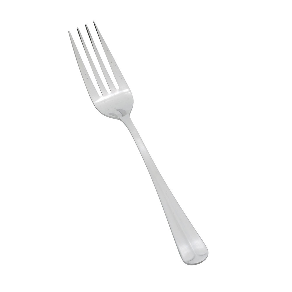 Winco 0015-054 Dinner Fork, Lafayette, 4 Tine, Medium Weight, Satin Finish, 18/0 Stainless