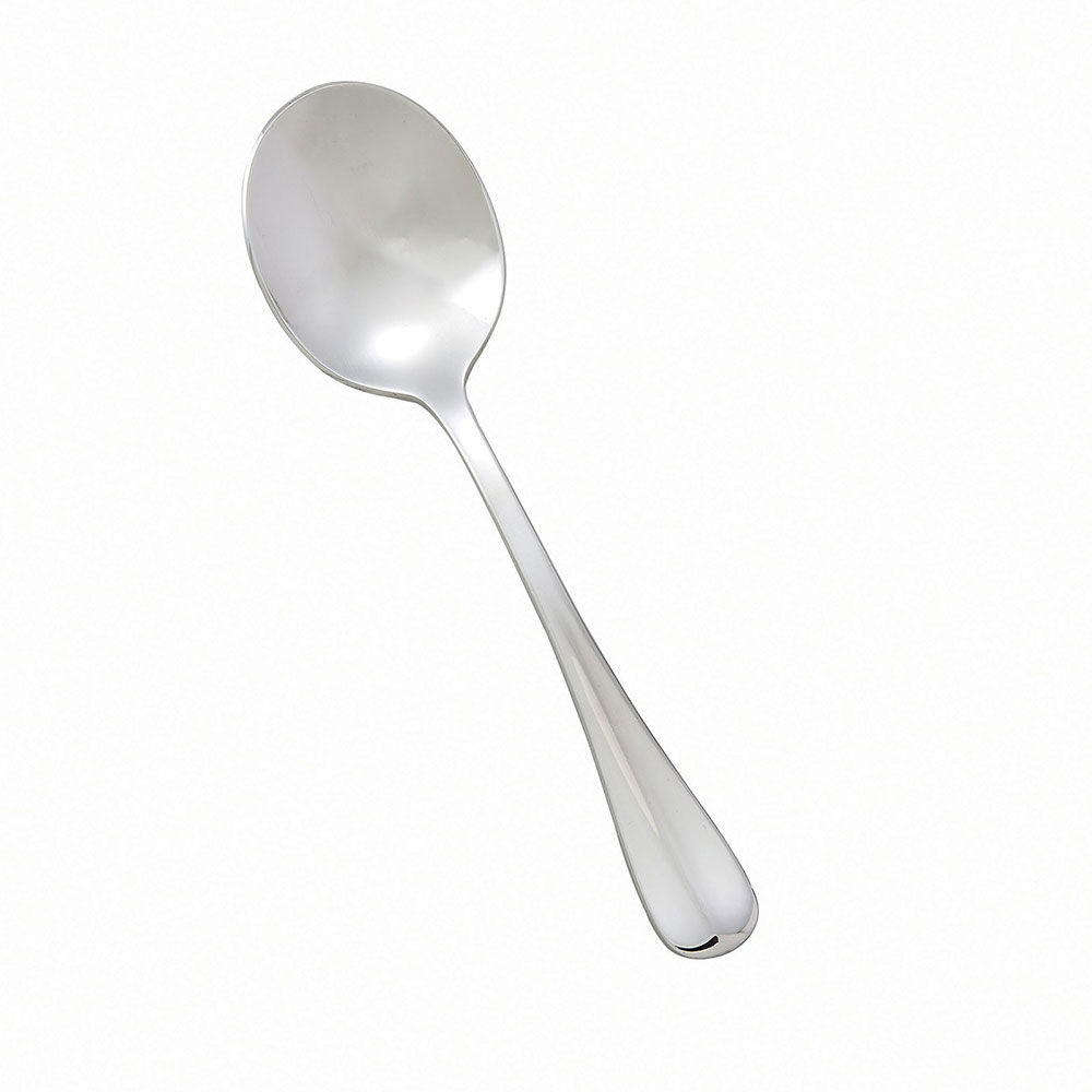 Winco 0034-04 Bouillon Spoon, Extra Heavy, 18/8 Stainless Steel, Stanford Design