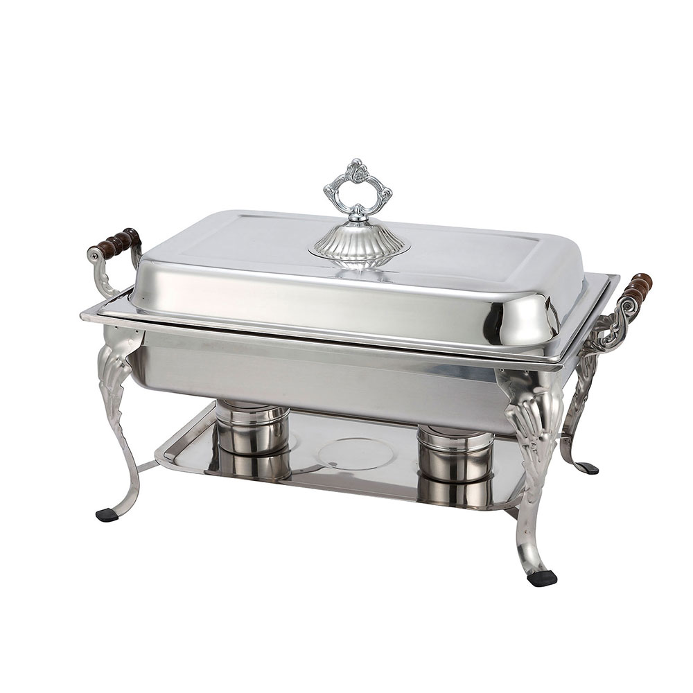 Winco 408-1 Crown Chafer, 8 qt, Full Size, 18/8 Stainless Steel, Dome Cover