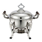 Winco 708 Round Chafer w/ Lift-off Lid & Chafing Fuel Heat