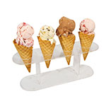 Winco ACN-4 Acrylic Waffle Cone Stand, 12 x 4 x 4.5-in, Clear