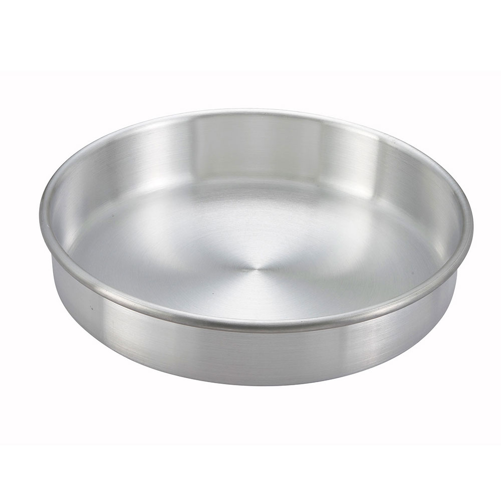 "Winco ACP-093 Layer Cake Pan, 9 x 3"", Aluminum"