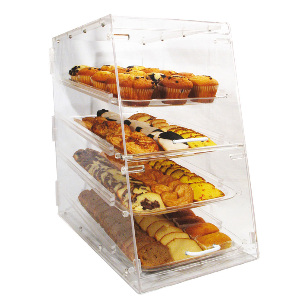 Winco ADC-4 Counter Top Display Case w/ (4) 12 x 18-in Trays, 14 x 24 x 24-in, Clear