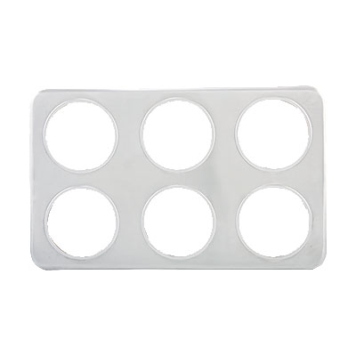"Winco ADP-444 Adapter Plate w/ (6) 4.75"" Diameter Inset Holes, Stainless"