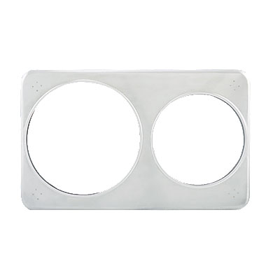 "Winco ADP-608 Adapter Plate w/ (2) 6.37 & 8.37"" Holes, Stainless"