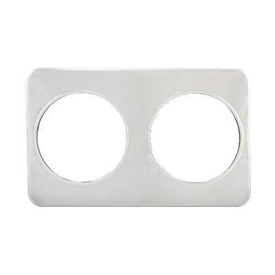 "Winco ADP-808 Adapter Plate w/ (2) 8.37"" Holes, Stainless"