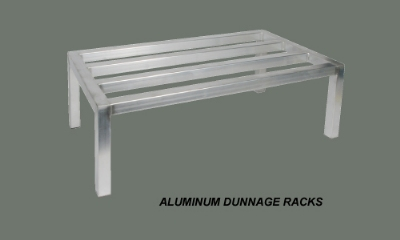 Winco ADRK-2048 Tubular Dunnage Rack, 20 in x 48 in x 12 in, Aluminum