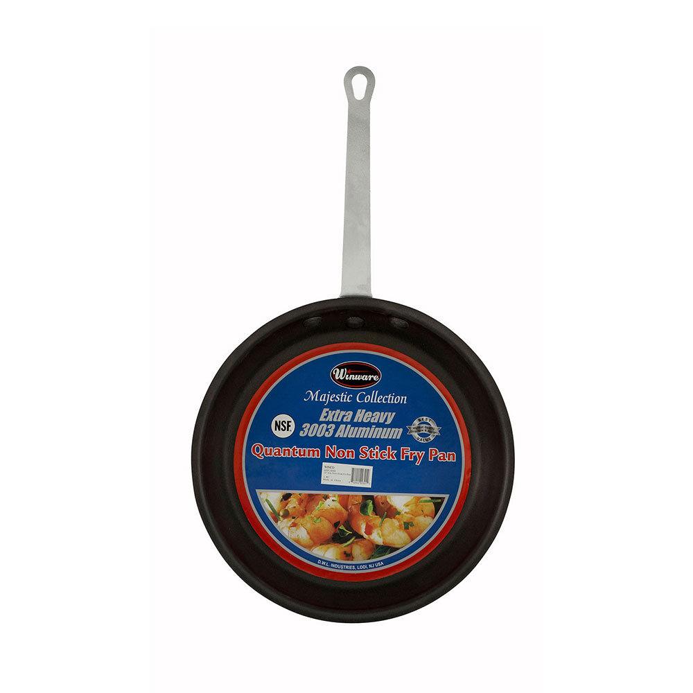 """Winco AFP-12NS 12"""" Non-Stick Aluminum Frying Pan w/ Solid Metal Handle"""