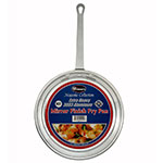 "Winco AFP-8 8"" Aluminum Frying Pan w/ Solid Metal Handle"