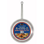 "Winco AFP-8S 8"" Aluminum Frying Pan w/ Solid Metal Handle"