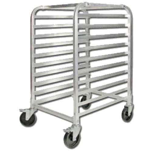 Winco ALRK-10BK Heavy Duty Bun Rack w/ Brakes, 10 Full Size Pan Capacity