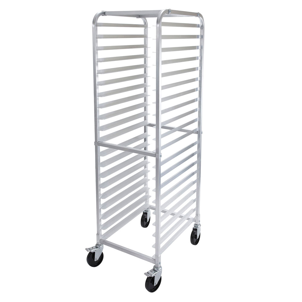Winco ALRK-20BK Heavy Duty Sheet Pan Rack w/ Brakes, 20 Tiers, Stainless