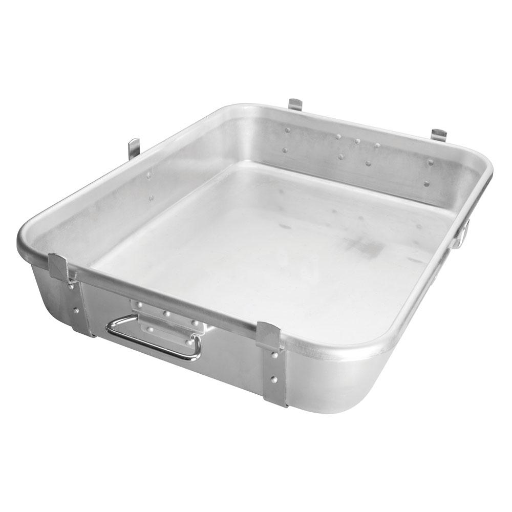 """Winco ALRP-1824L Double Roast Pan w/ Straps & Lugs, 18 x 24 x 4.5"""", Aluminum"""