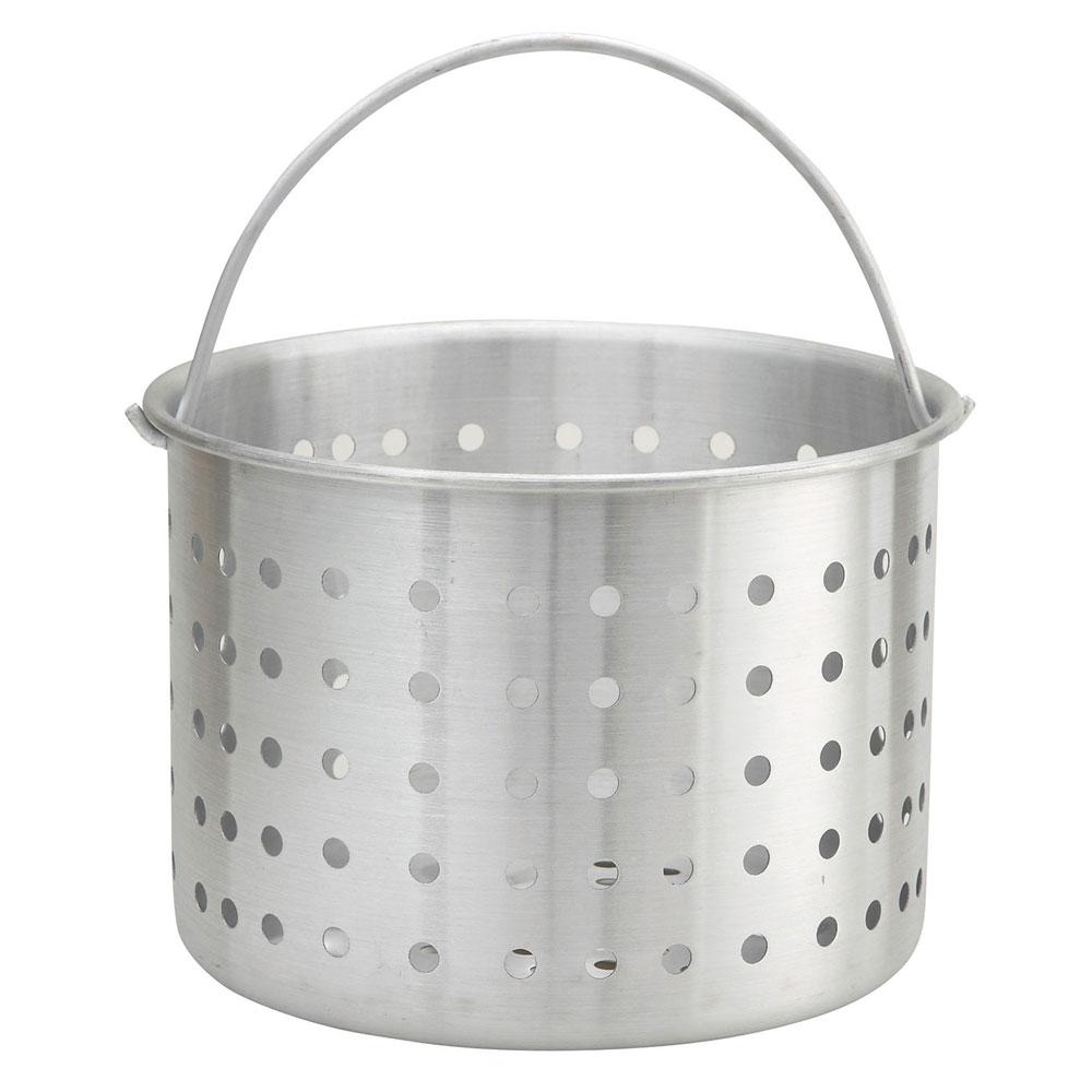 "Winco ALSB-20 20-qt Aluminum Steamer Basket, 10.4"" dia., 8.8""H"