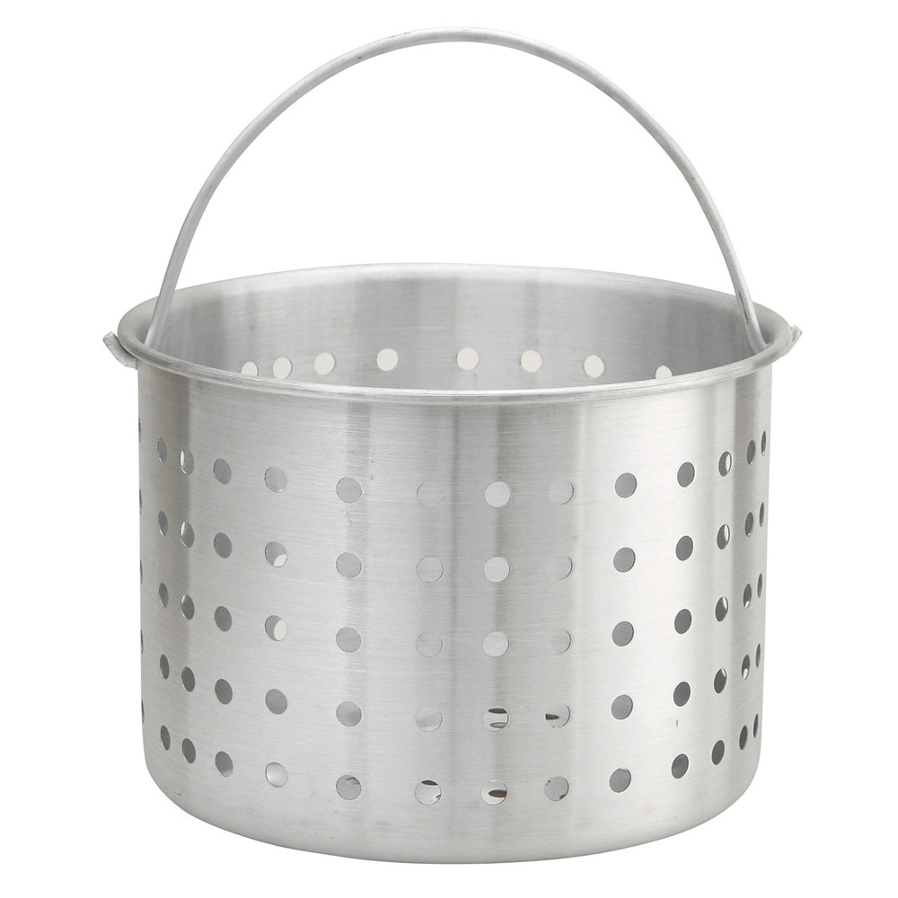 "Winco ALSB-80 80-qt Aluminum Steamer Basket, 16.4"" dia., 14.3""H"