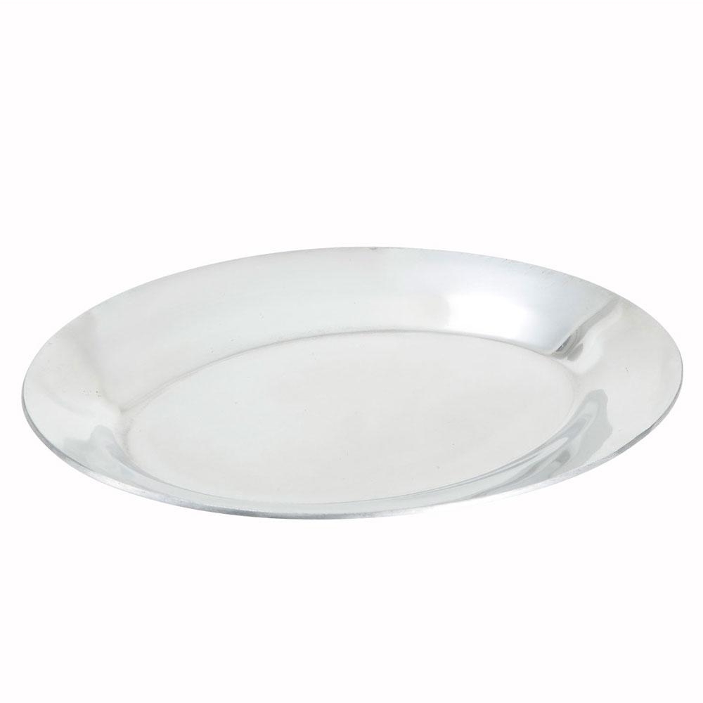 "Winco APL-11 11"" Oval Sizzling Platter, Aluminum"