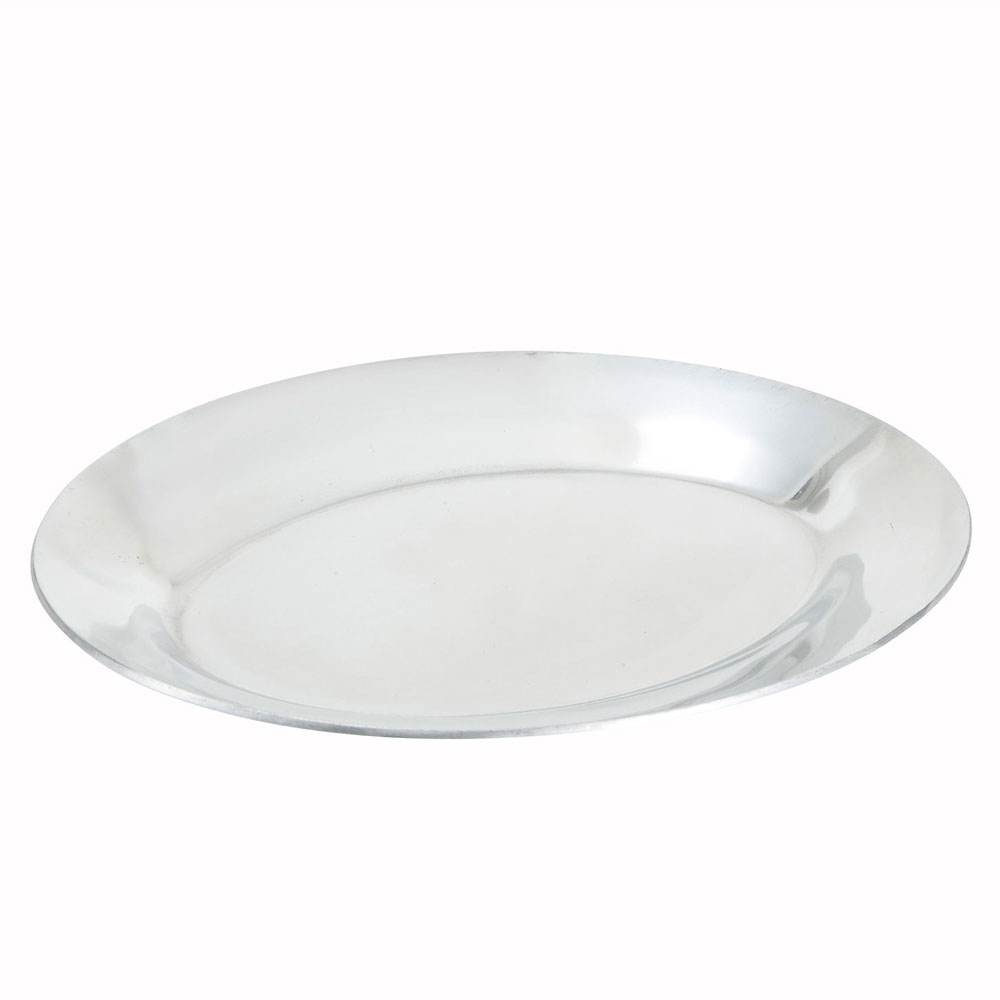 "Winco APL-12 12"" Oval Sizzling Platter, Aluminum"