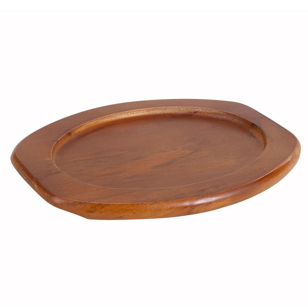 """Winco APL-12UL 12"""" Oval Underliner for Sizzling Platter, Wood"""