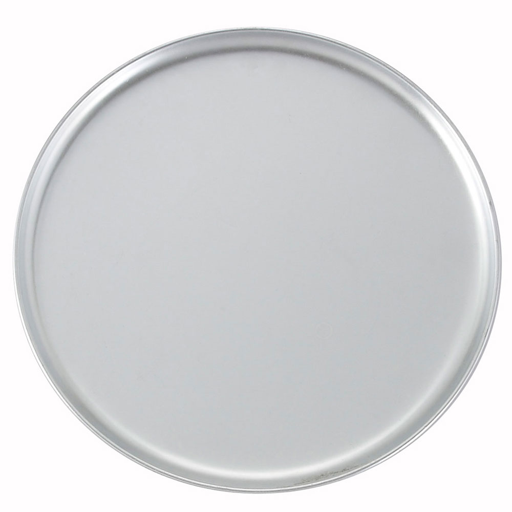 "Winco APZC12 12"" Round Coupe Pizza Pan, Aluminum"