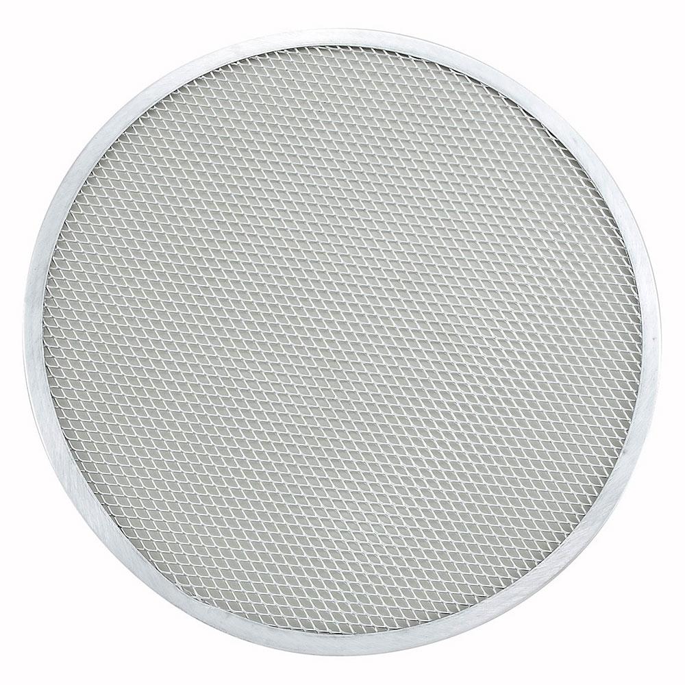 "Winco APZS-12 12"" Seamless Pizza Screen, Aluminum"