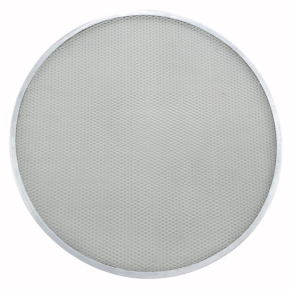 Winco APZS-20 20 Round Pizza Screen, Seamless, Aluminum
