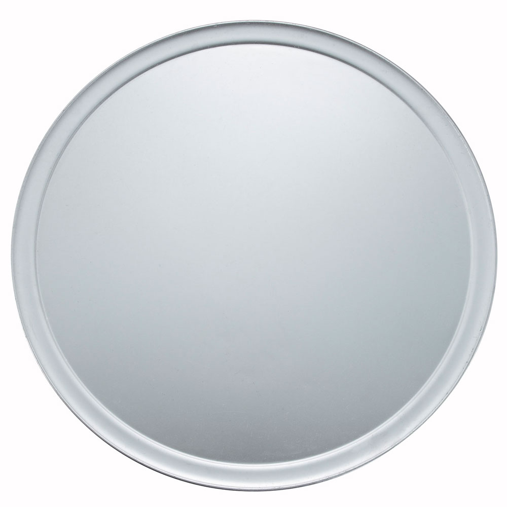 "Winco APZT-18 18"" Round Wide Rim Pizza Pan, Aluminum"