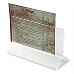 "Winco ATCH-53 Tabletop Menu Card Holder - 5.5"" x 3.5"", Acrylic"