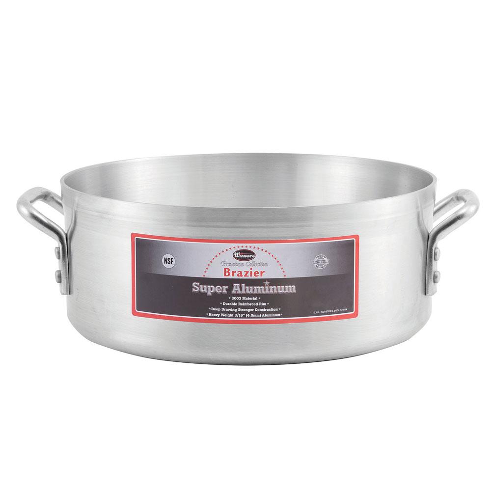 Winco AXHB-15 15-qt  Aluminum Braising Pot