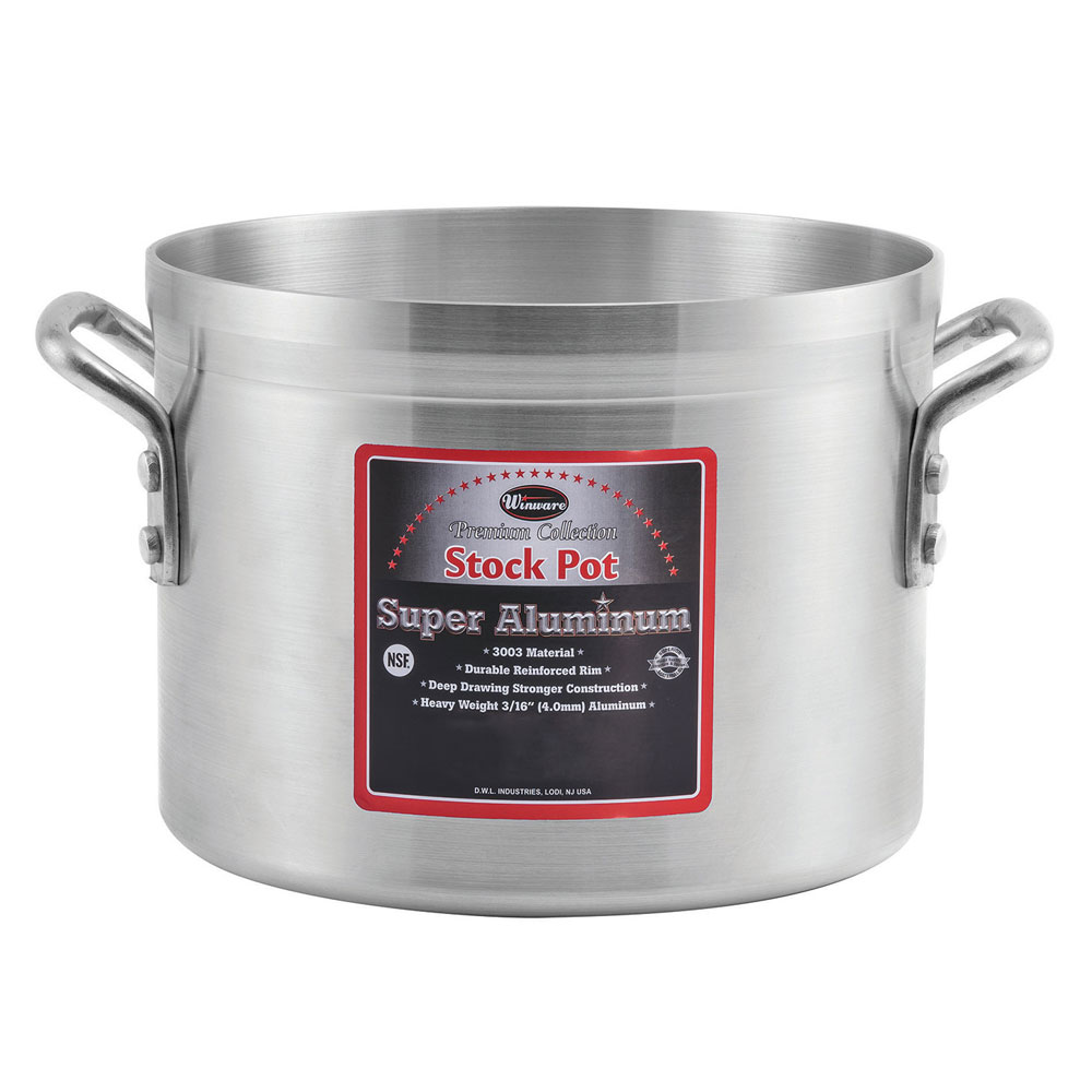 Winco AXS-12 12-qt Aluminum Stock Pot