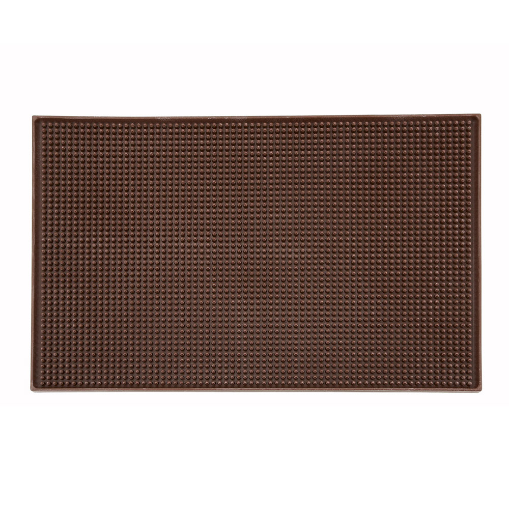 "Winco BM-1812B Service Mat, 18 x 12"", Brown"