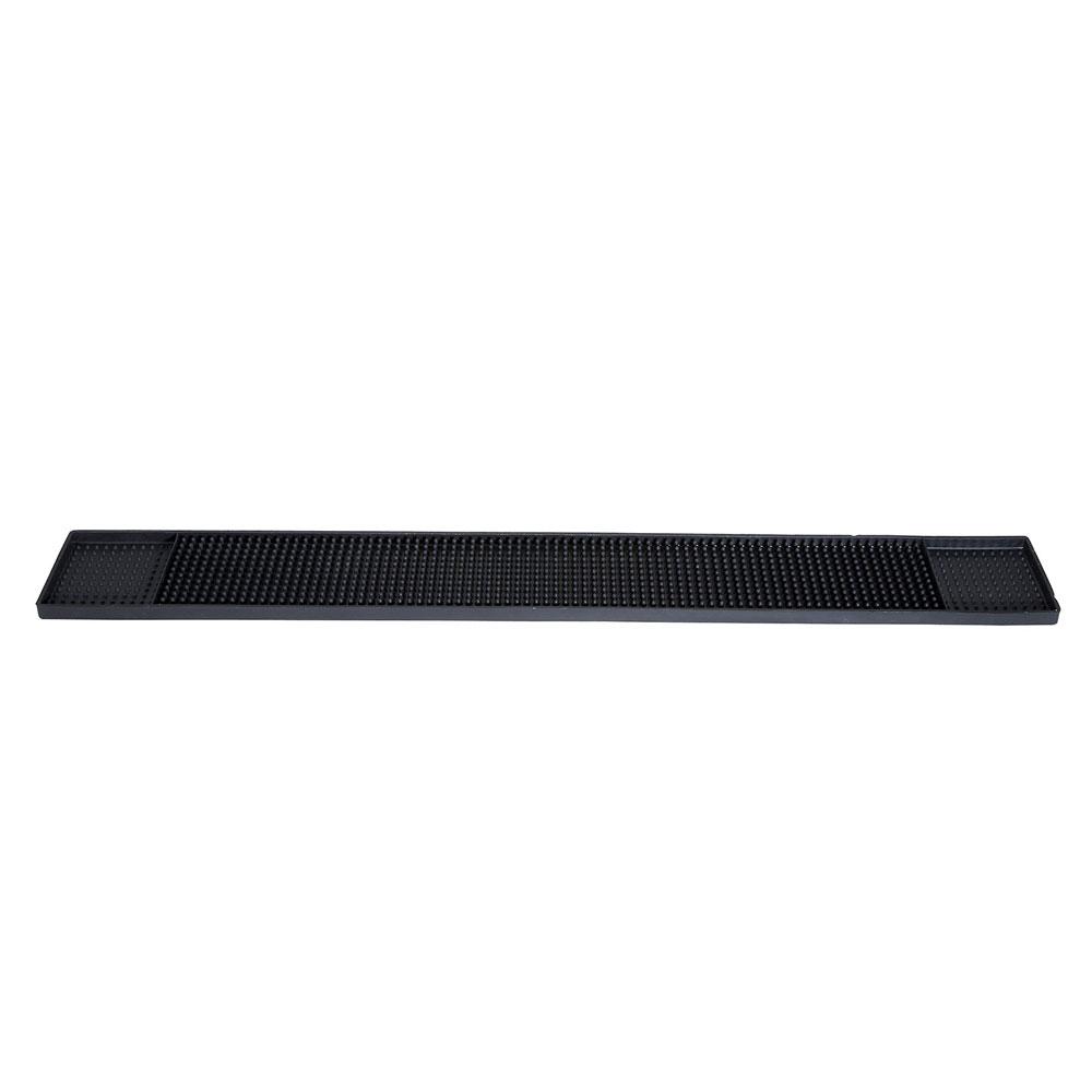 """Winco BM-327K Rubber Bar Mat, 27 x 3.25"""", Black"""
