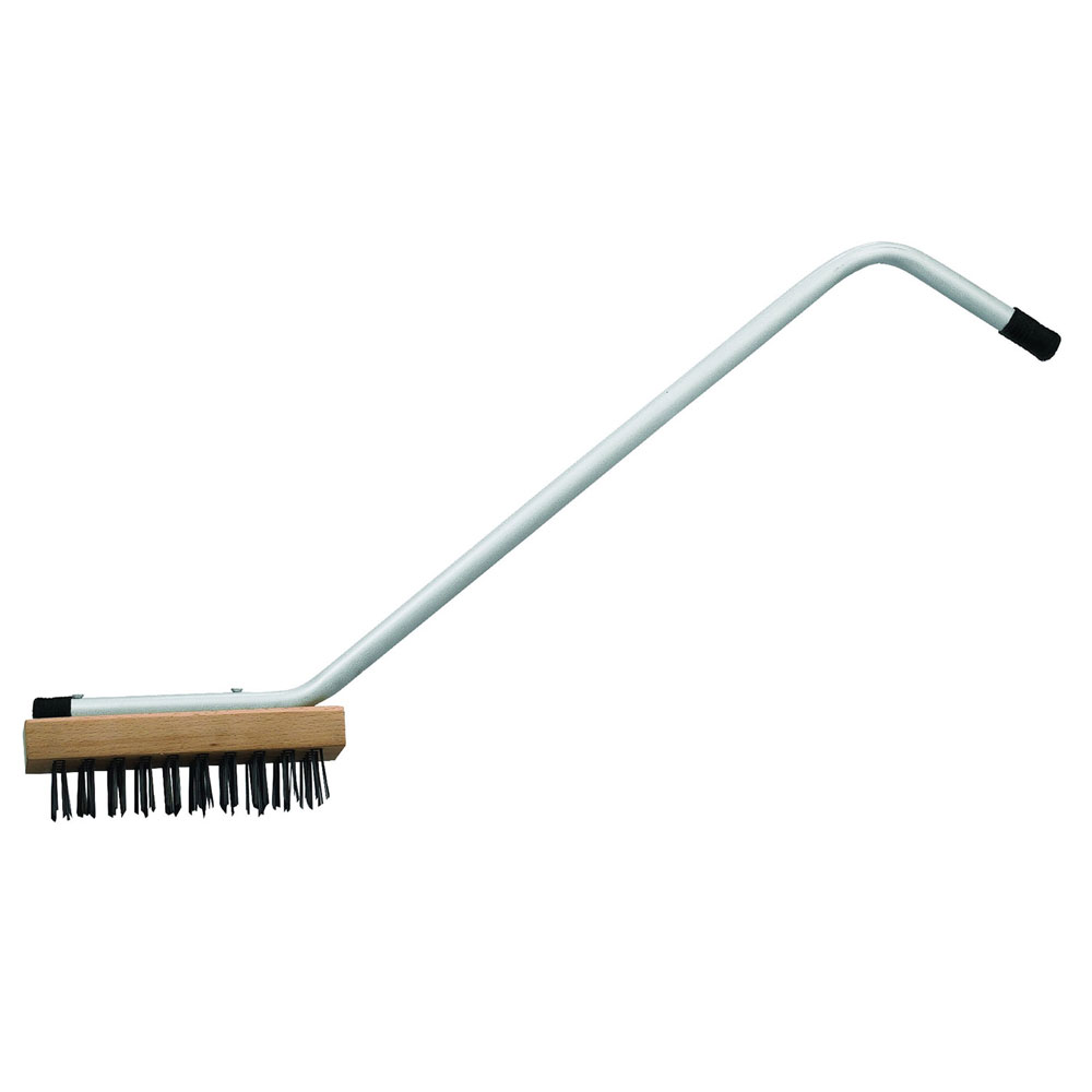 """Winco BR-31 31"""" Commercial Broiler Brush w/ Steel Wire Bristles & Zinc-Plated Iron Handle"""