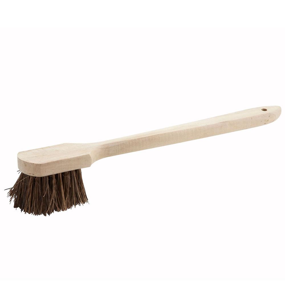 "Winco BRP-20 20"" Pot Brush w/ Wood Handle"