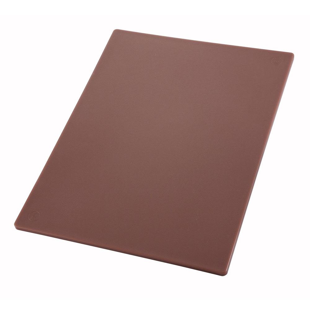 "Winco CBBN1218 Cutting Board, 12 x 18 x .5"", Brown"