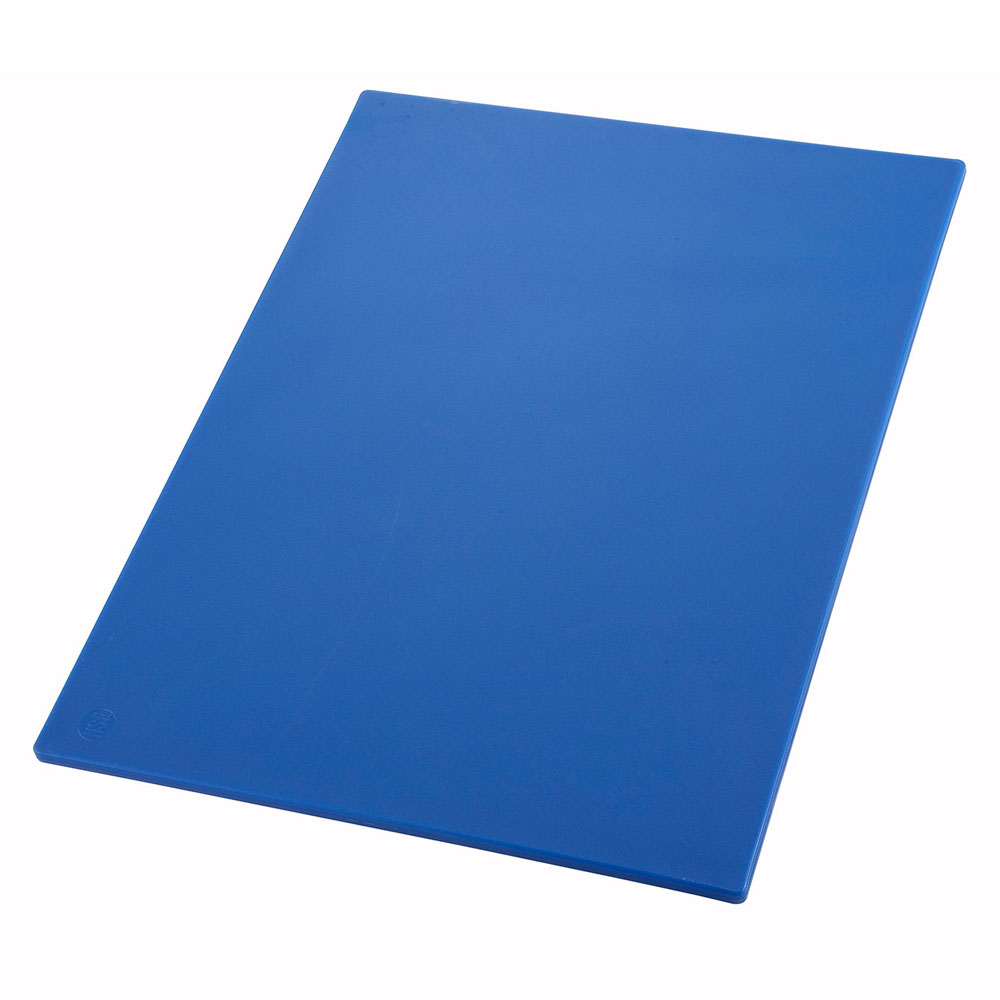 "Winco CBBU1218 Cutting Board, 12 x 18 x .5"", Blue"