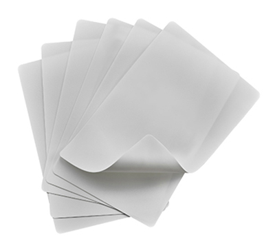 "Winco CBF-1824W Cutting Mat Set - (6) 18x24"", Flexible, White"