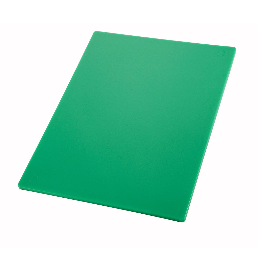 "Winco CBGR1218 Cutting Board, 12 x 18 x .5"", Green"