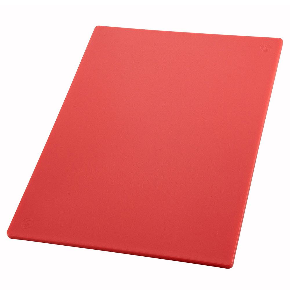 "Winco CBRD1218 Cutting Board, 12 x 18 x .5"", Red"