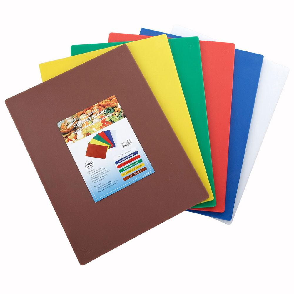 "Winco CBST-1520 Cutting Board Set, 15 x 20 x .5"", Mixed Colors"