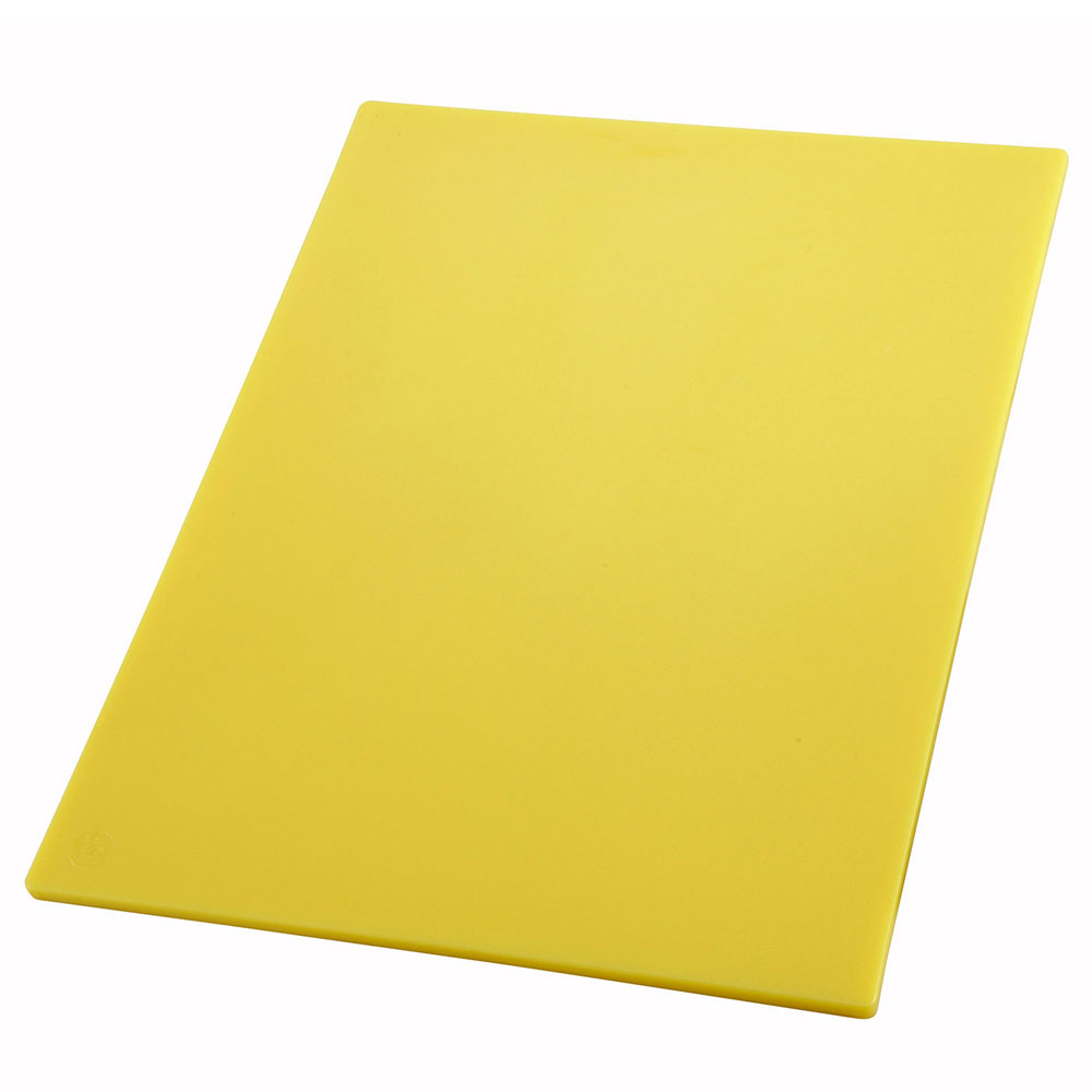 "Winco CBYL1218 Cutting Board, 12 x 18 x .5"", Yellow"