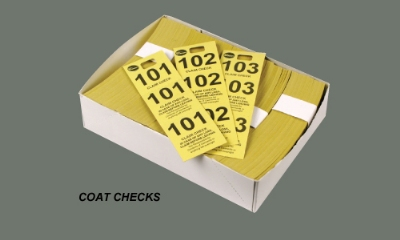 Winco CCK-5PK Coat Check, Pink (500 pieces per box)