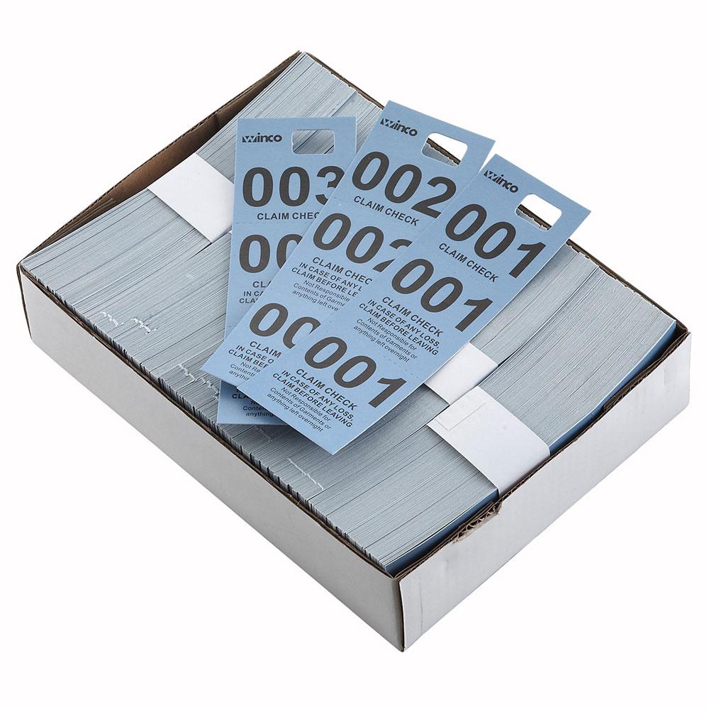 Winco CCK-5BL Coat Check, Blue (500 pieces per box)