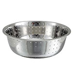 "Winco CCOD-15L 15"" Chinese Colander w/ 5mm Holes, Stainless"