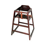 "Winco CHH-103 29.75"" Stackable High Chair w/ Waist Strap - Wood, Mahogany"