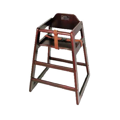 Winco CHH-103A Stacking Hi-Chair w/ Mahogany Wood Finish, Assembled