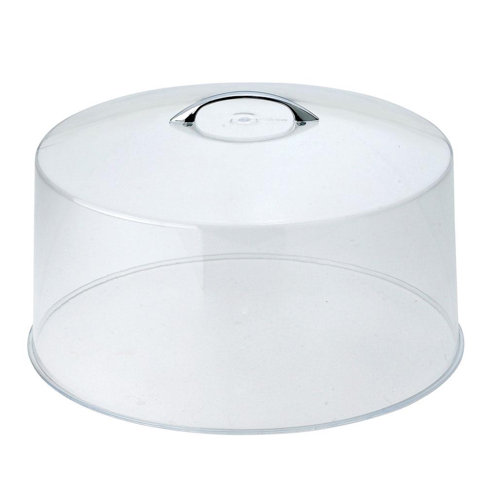 "Winco CKS-13C 12"" Round Cake Stand Cover, Acrylic"