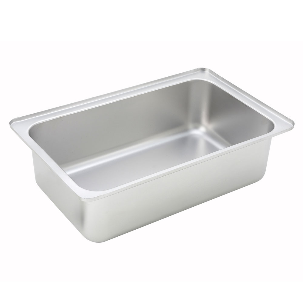 """Winco CWPF6 Full-Size Water Pan, 6"""" Deep, Stainless"""