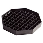 "Winco DT-60 6"" Octagon Drip Tray - Black"
