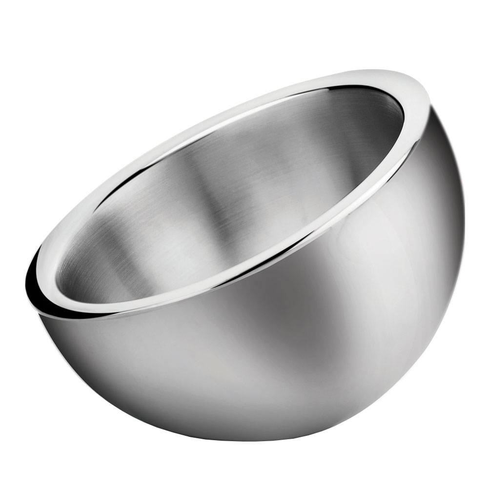Winco DWAB-S Small Angled Bowl w/ Double-Wall Insulation, Stainless