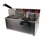Winco EFT-32 Countertop Electric Fryer - (2) 32-lb Vat, 120v/1ph